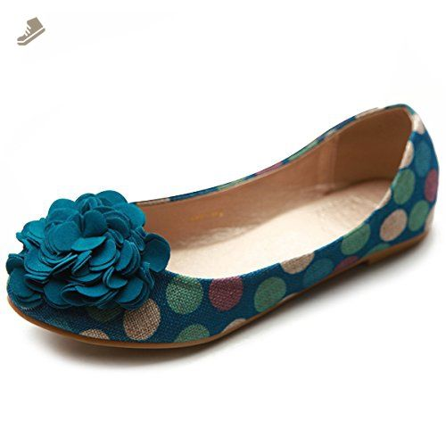 938eb6cd9 Ollio Womens Shoes Faux Suede Decorative Flower Slip On Comfort Light  Ballet Flat Clothing, Shoes & Jewelry