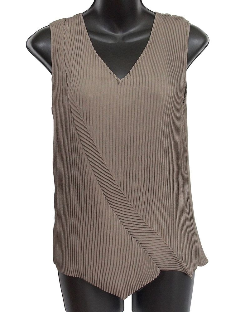 Babette Sf Top Pleated Taupe Size S Women S Apparel Pinterest