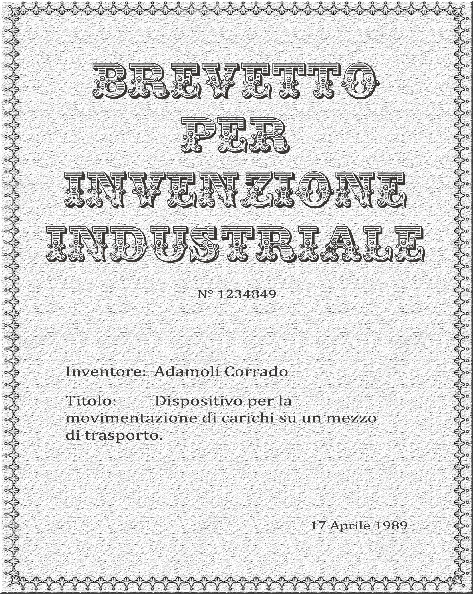 #Second #Patent for #industrial #invention: #Adamoli #Rolling #Floor   #Secondo #Brevetto per #invenzione #industriale: #tappeto #rotante  Info: www.adamolirollingfloor.com