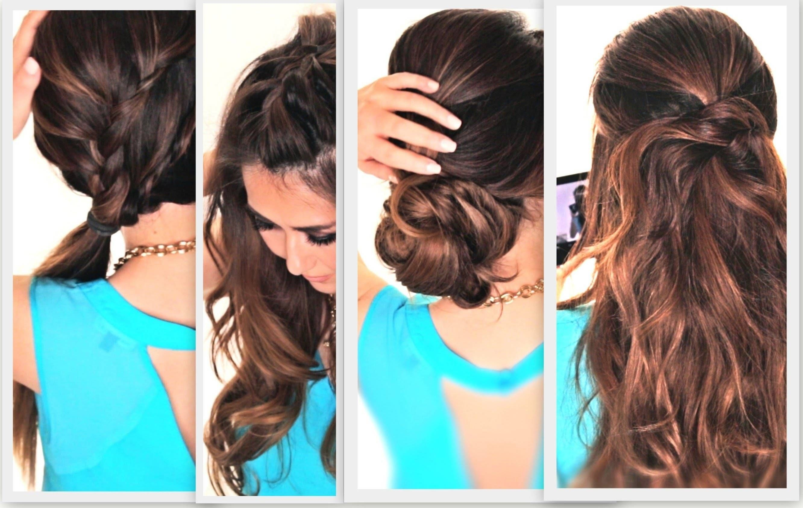 easy lazy hairstyles cute everyday hairstyle youtube long