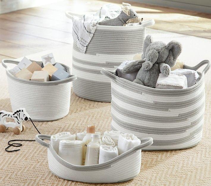 Gray Cotton Rope Storage