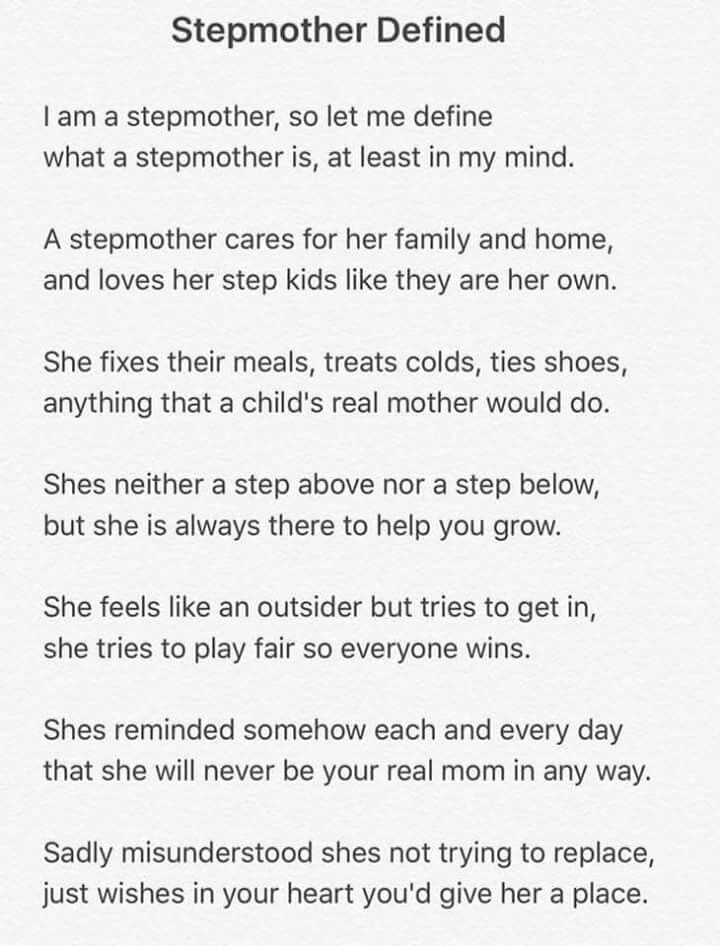 Stepmom | Words to live by | Step parents quotes, Step ...