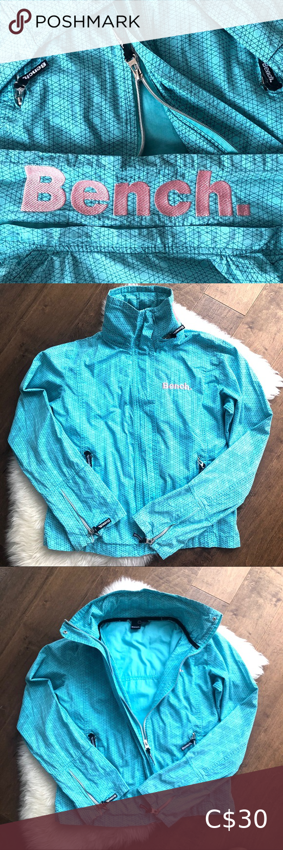 Pretty Ocean Blue Bench Jacket In 2020 Bench Jackets Clothes Design Fitness Fashion
