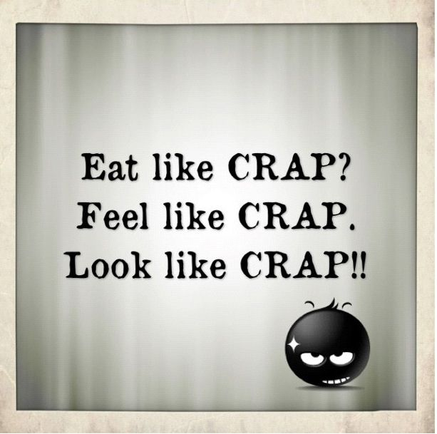 Eat Like Crap Feel Like Crap Look Like Crap Quotes About Health