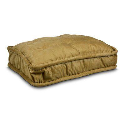 """Tucker Murphy Pet Primeaux Pillow Top Pet Bed Size: Small - 26"""" L x 20"""" W, Colour: Camel"""