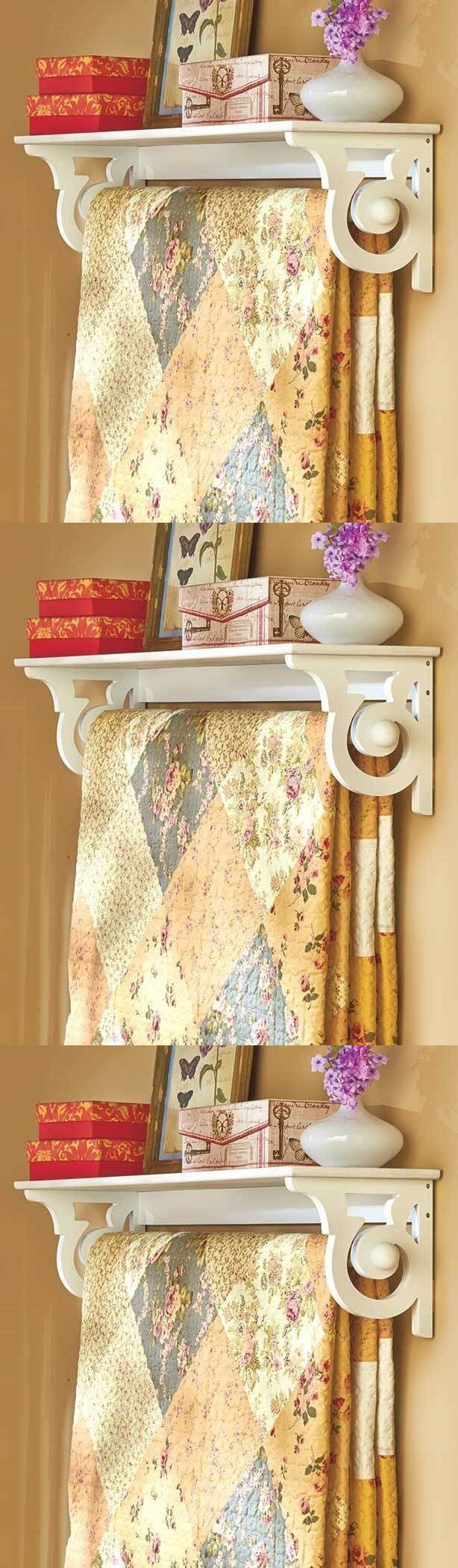 Quilt Hangers and Stands 83959: White Wall Quilt Rack Hanging Throw ...