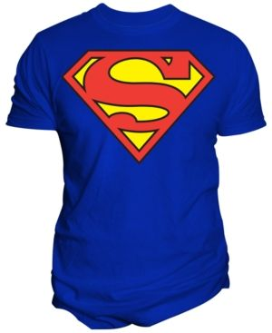 e4b2ac9d6 Men's Dc Comics Original Superman Shield Logo Graphic-Print T-Shirt from  Changes - Blue 2XL