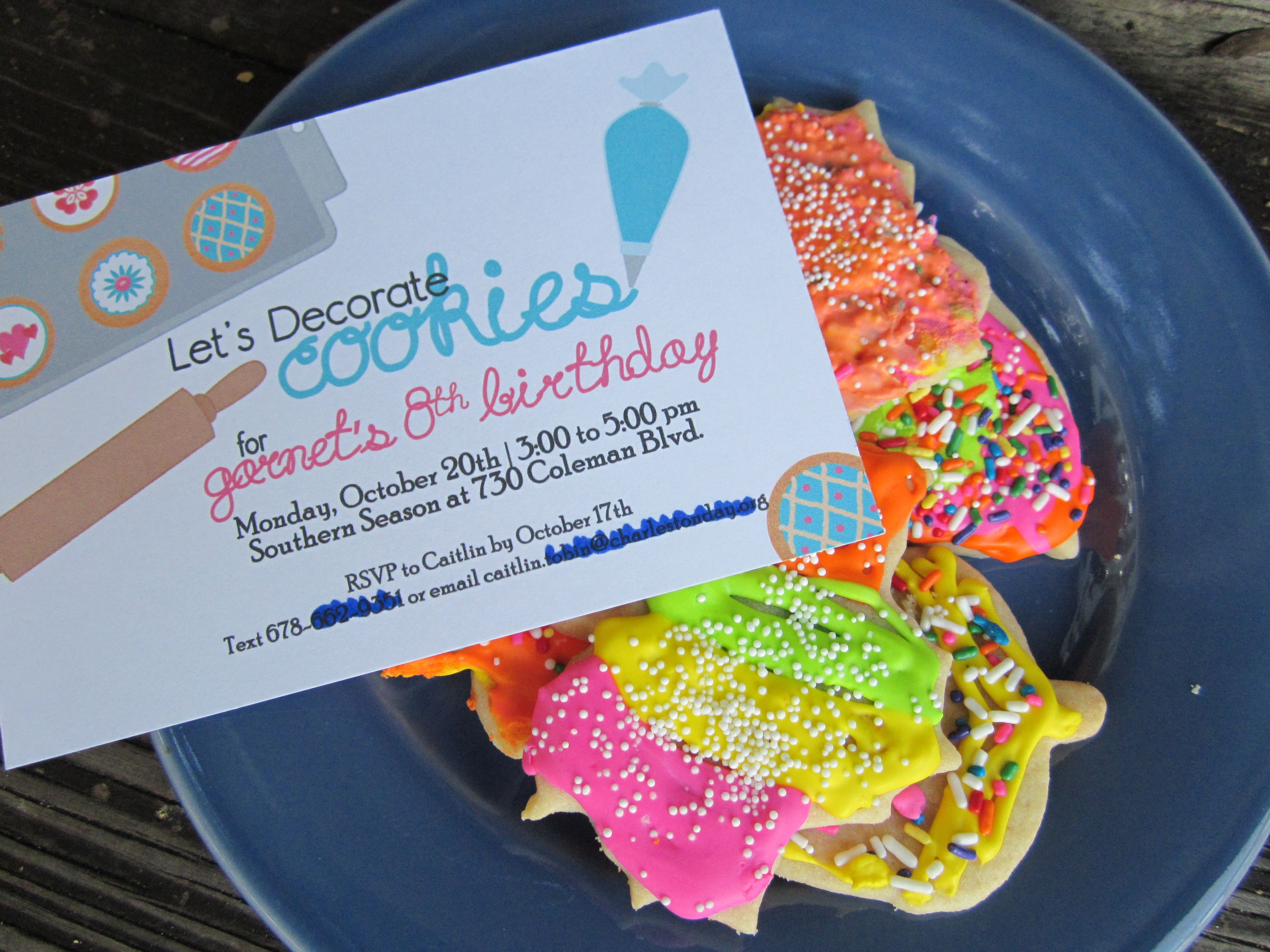 Cookie decorating party ideas - Cookie Decorating Party Invitation