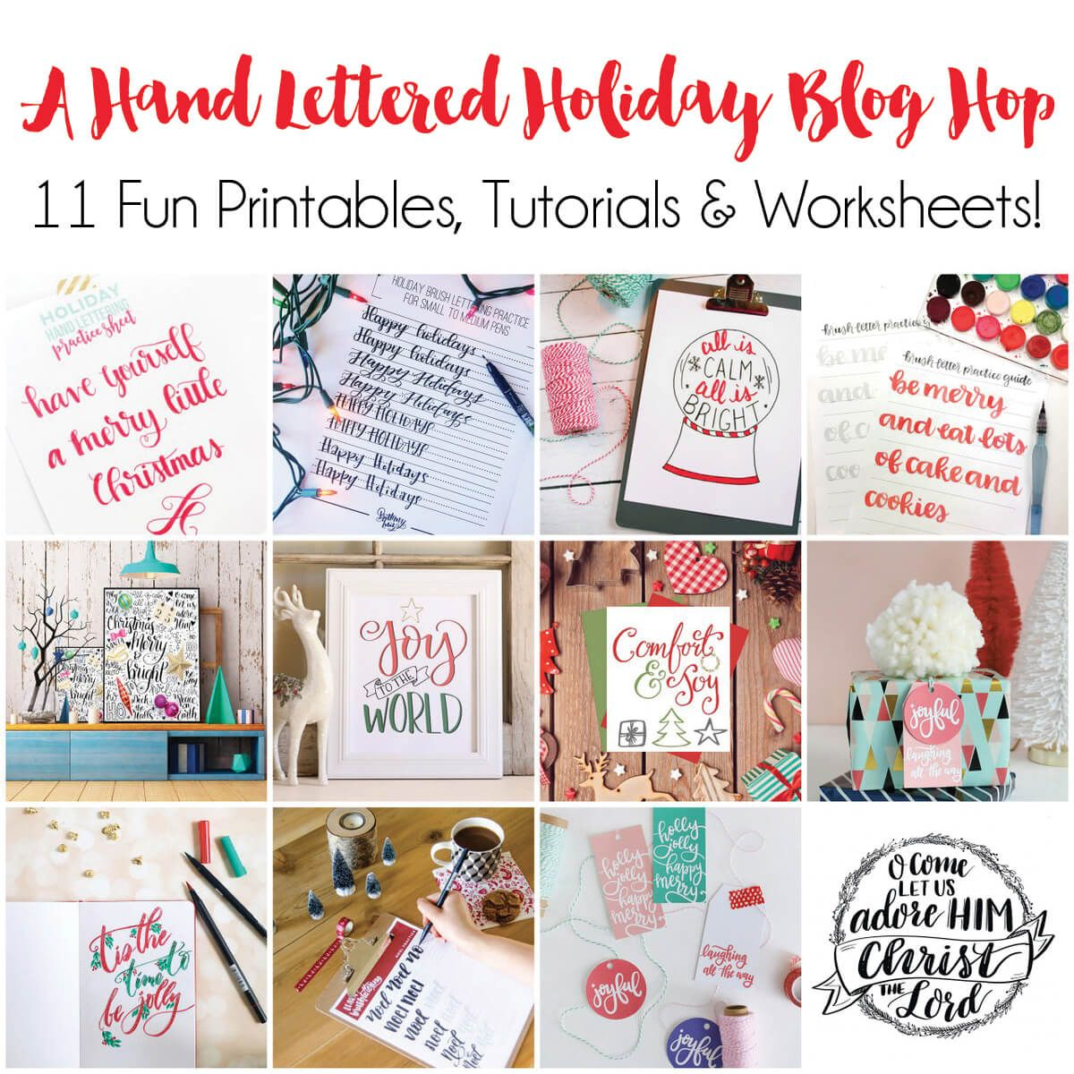 Hand Lettered Free Printable Christmas T Tags