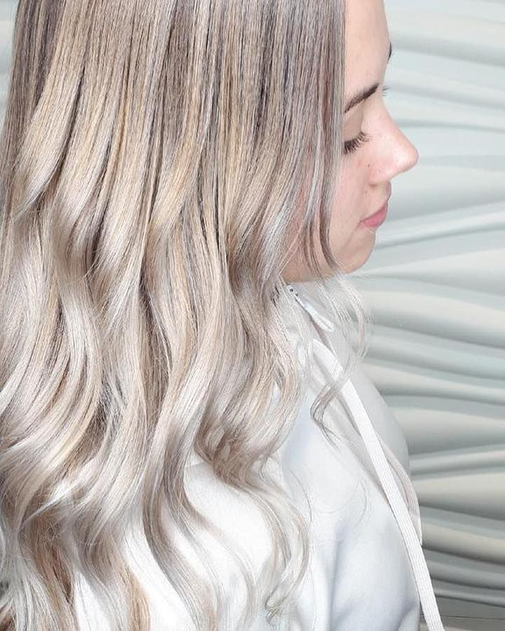 vibrantsalonspaWhen your blonde is as white as snow ️ ️ ️