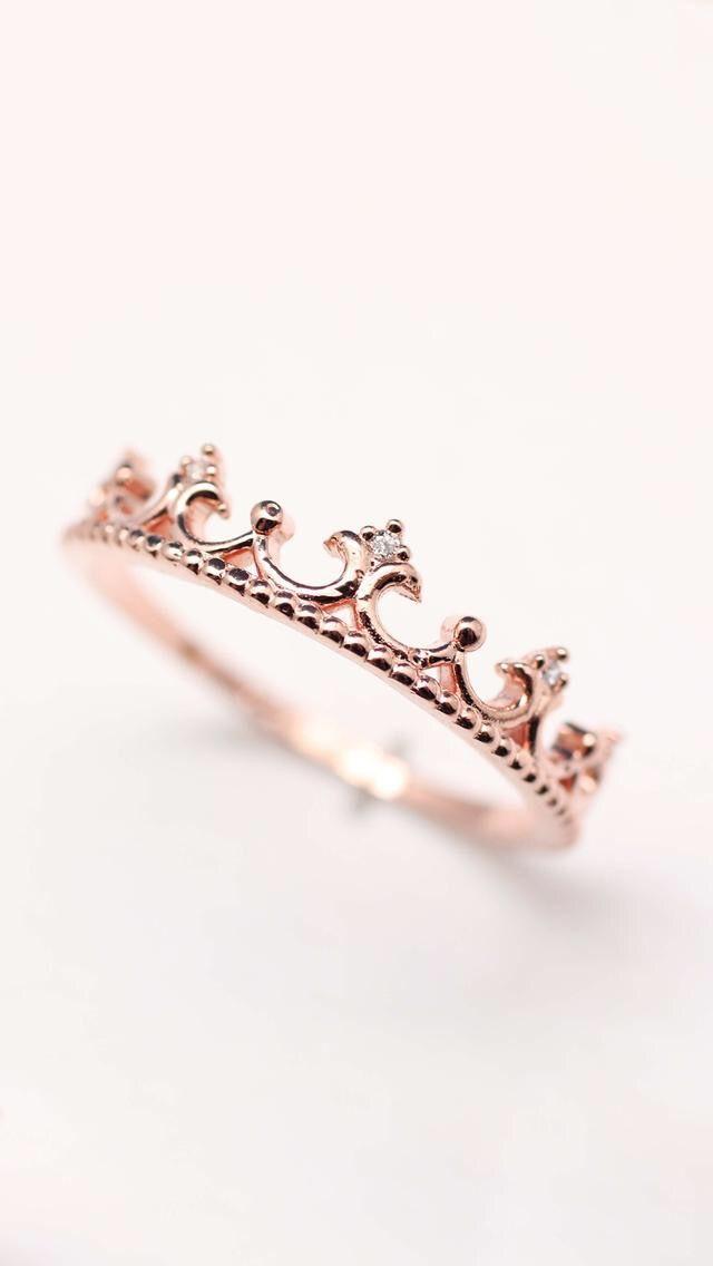 Pin by Verena on Rose gold Tiara ring, Silver tiara