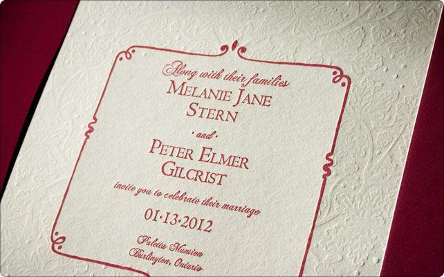 Hivernale invitations by Papillon Press