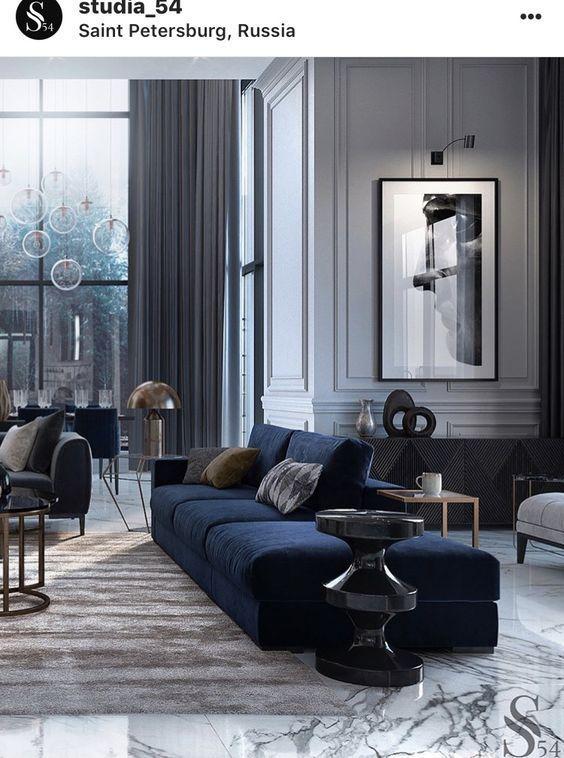 Livingroomcontemporary living room modern home navy rooms also diy in pinterest rh