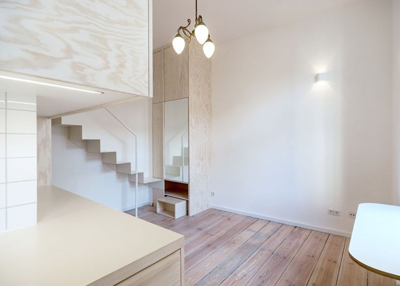 Micro Apartment By Berlin Studio Spamroom Small Kitchen In 2020