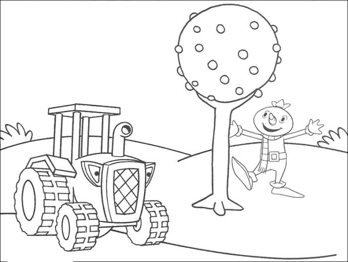 Travis The Tractor Coloring Pages Bob The Builder Coloring Pages
