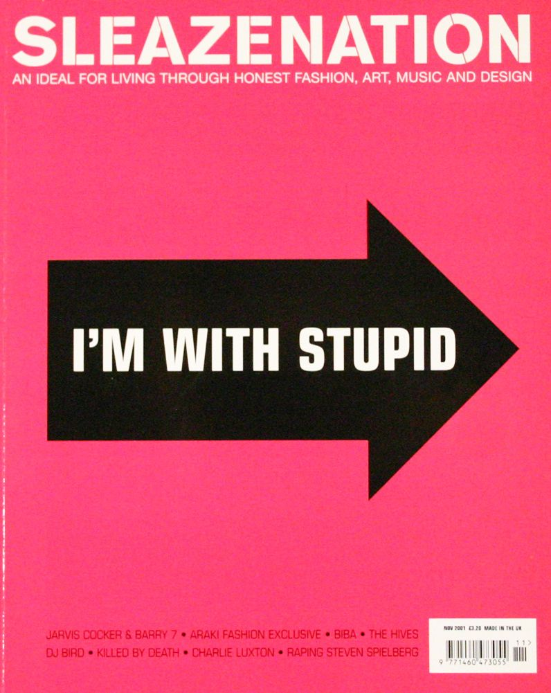 Sleazenation — British style magazine — 2001 — Cover by Scott King