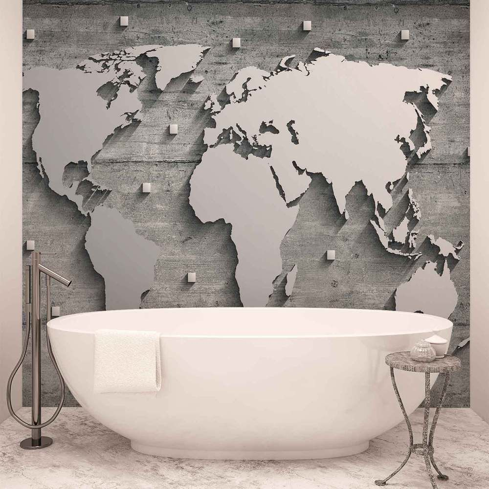 Wall mural photo wallpaper xxl world map concrete wall 10420ws wall mural photo wallpaper xxl world map concrete wall 10420ws home furniture gumiabroncs Gallery