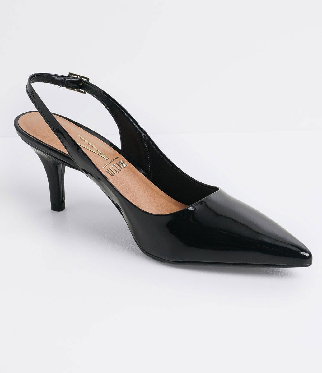 b309ed65fe Sapato feminino Modelo Chanel Bico fino Salto médio   7 cm Material ...