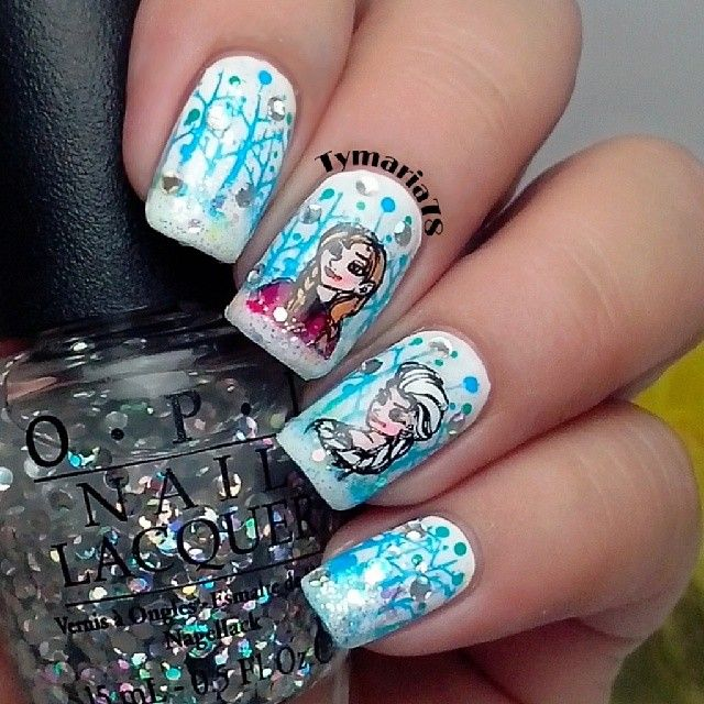 frozen movie by tymaria78 #nail #nails #nailart | Nail Art ...