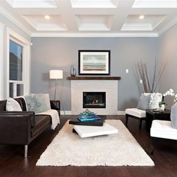 Gray And Brown Living Room. Fantastic Contemporary Living Room Designs  Brown leather