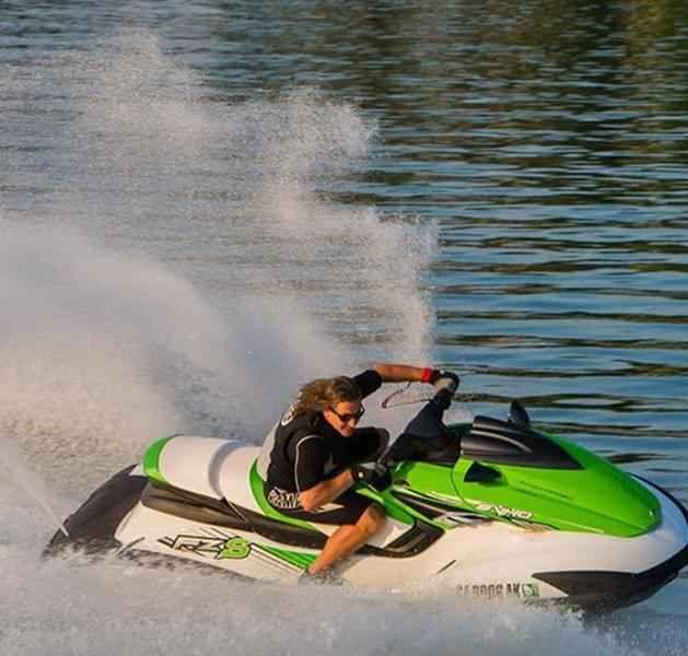 In addition to riding the Jet Ski, you can also hook a ski tow rope to the back of it.