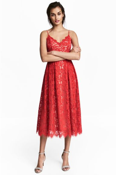 Bellezza Alla Moda · Abito in pizzo - Rosso - DONNA  ce8657c55f5