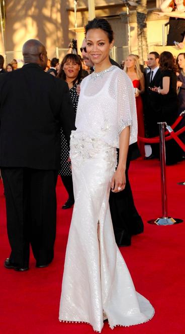 Zoe Saldaña - 2012 SAGS AWARDS BEST DRESSED