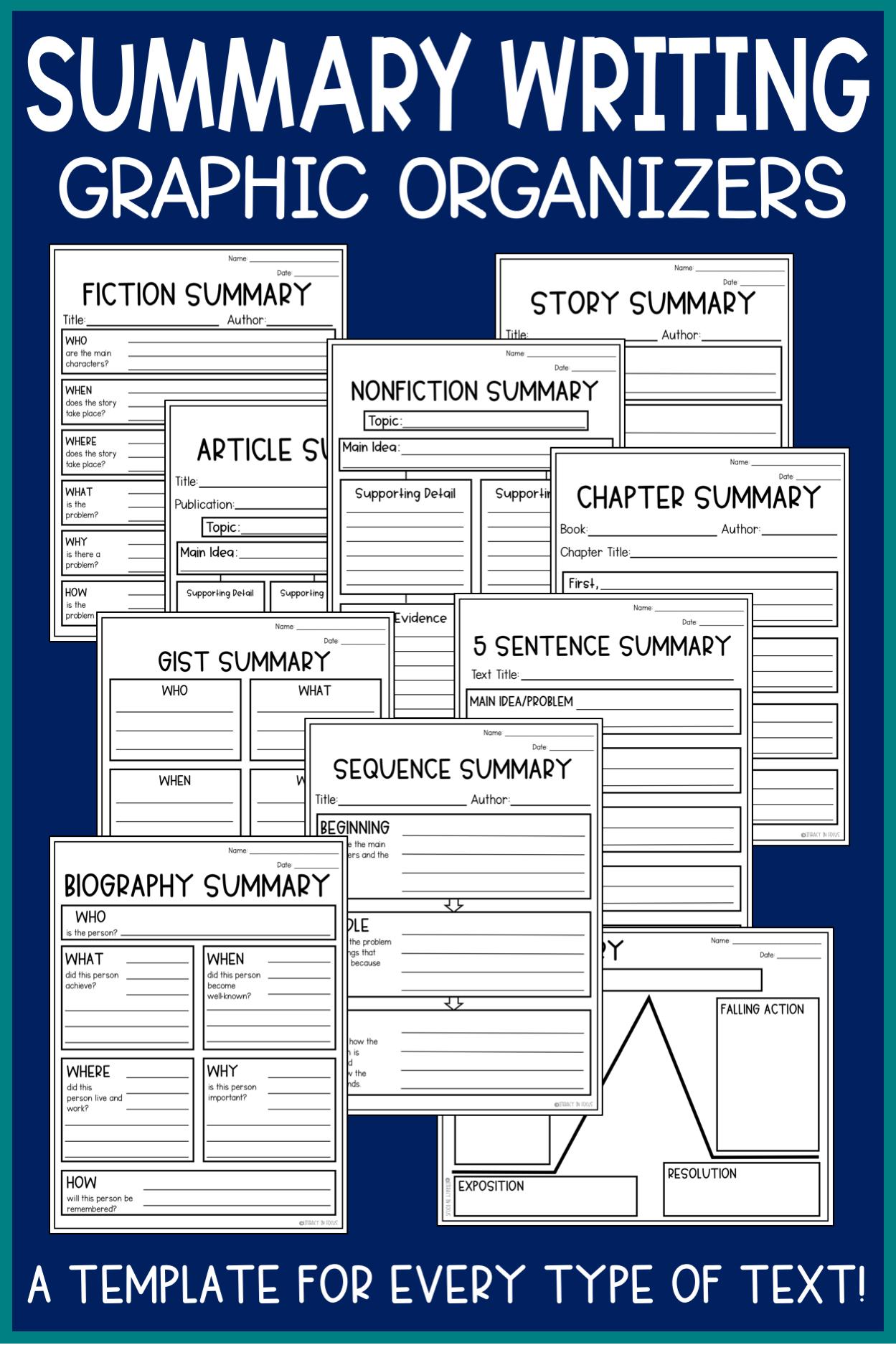 Summary Graphic Organizers Editable Google Classroom Version Included Summary Writing Writing Graphic Organizers Summary Graphic Organizer [ 1874 x 1249 Pixel ]