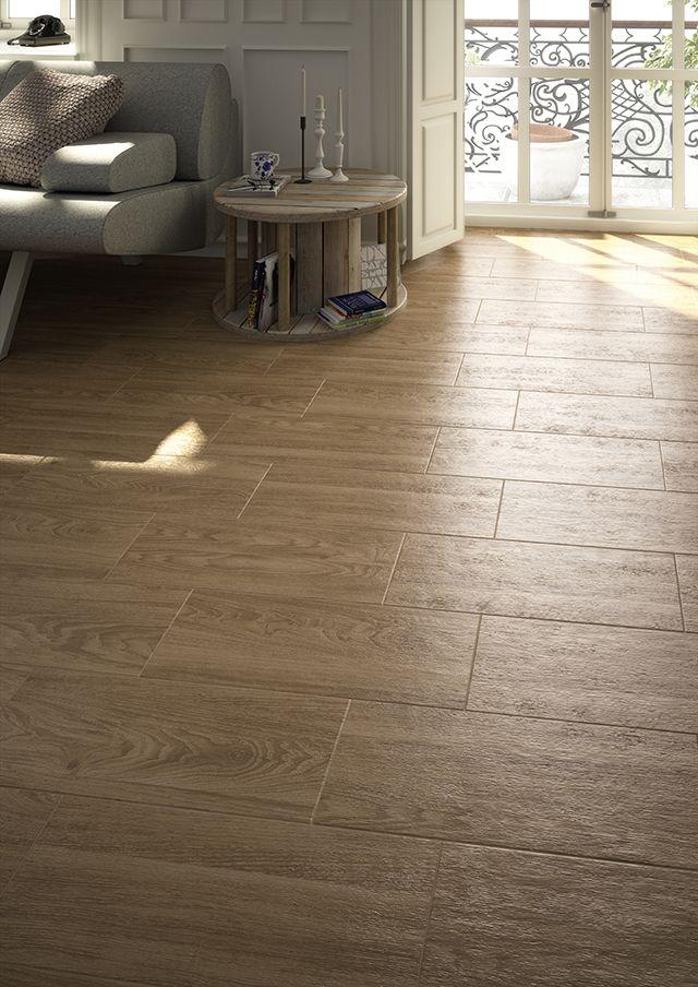 Sal n madera cer mica pavimento de gres imagen 3d fotorrealista decoraci n con - Suelo de ceramica imitacion madera ...