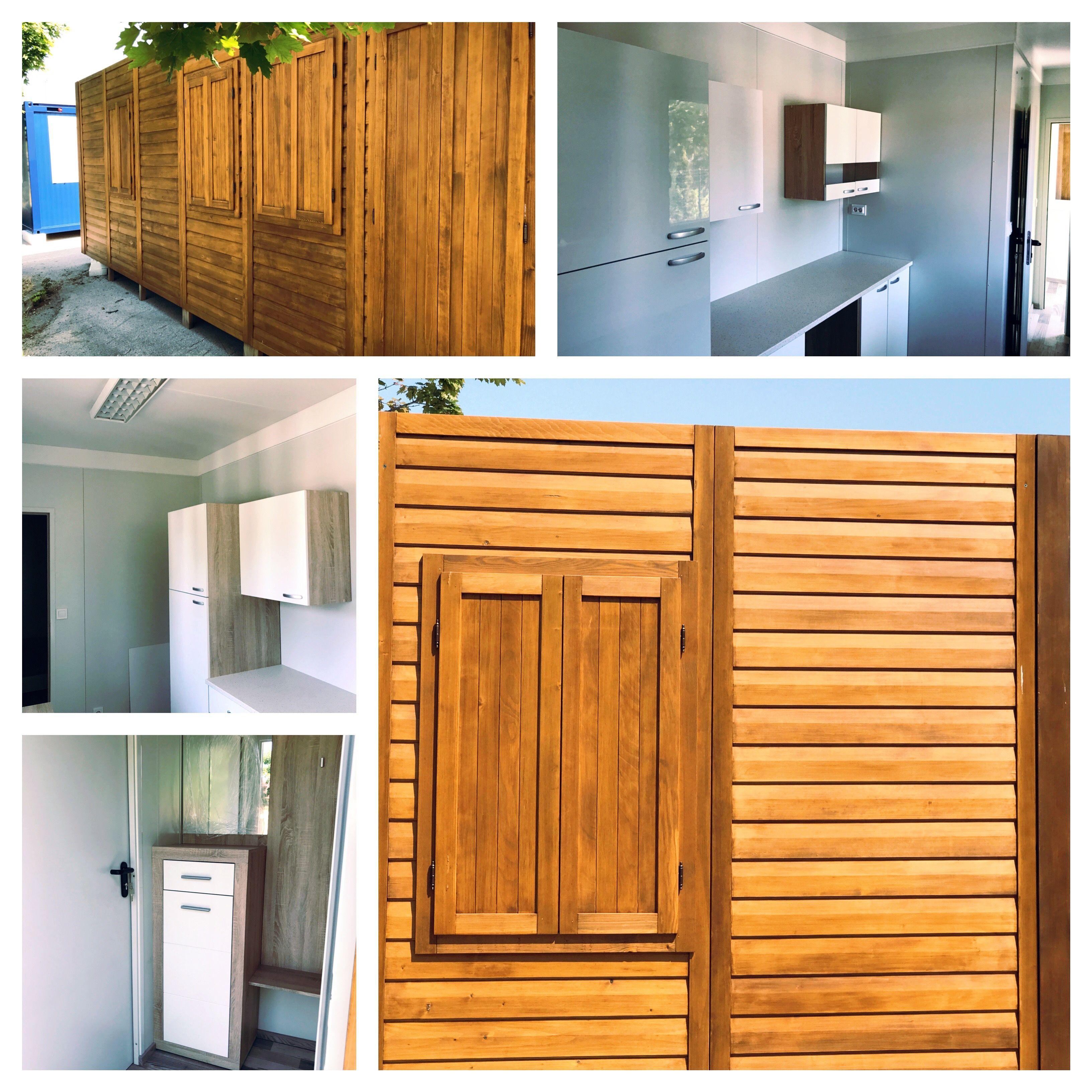 Ferienhaus Container 9m langes ferienhaus mit vorraum bad wohnküche und schlafzimmer