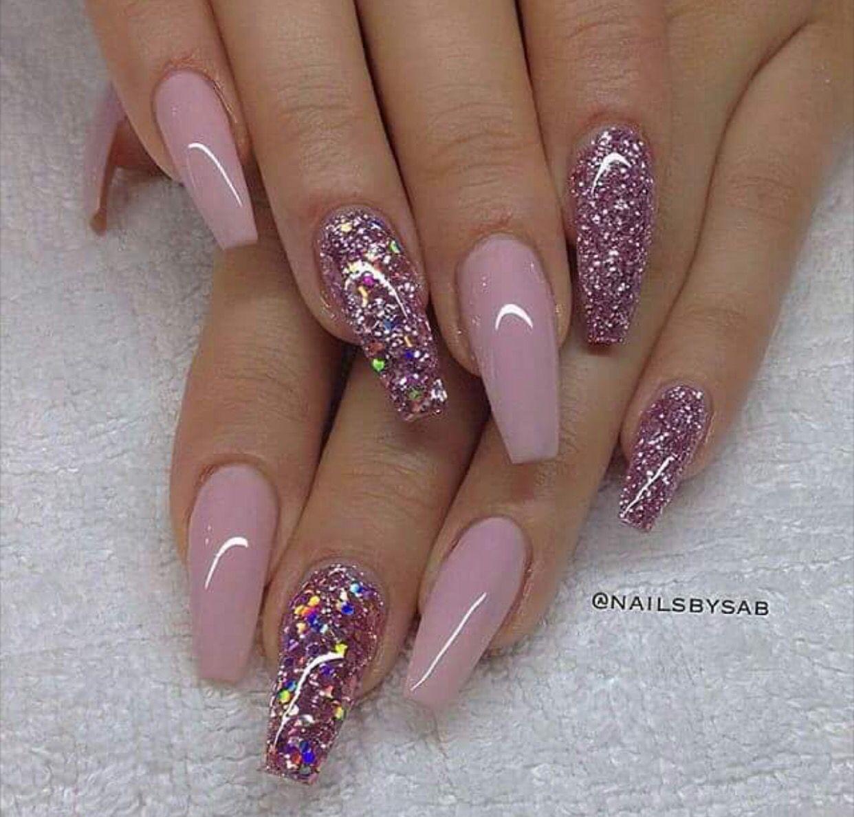 Glitter pink | Nails | Pinterest | Sns nails, Nail nail and Nails ...