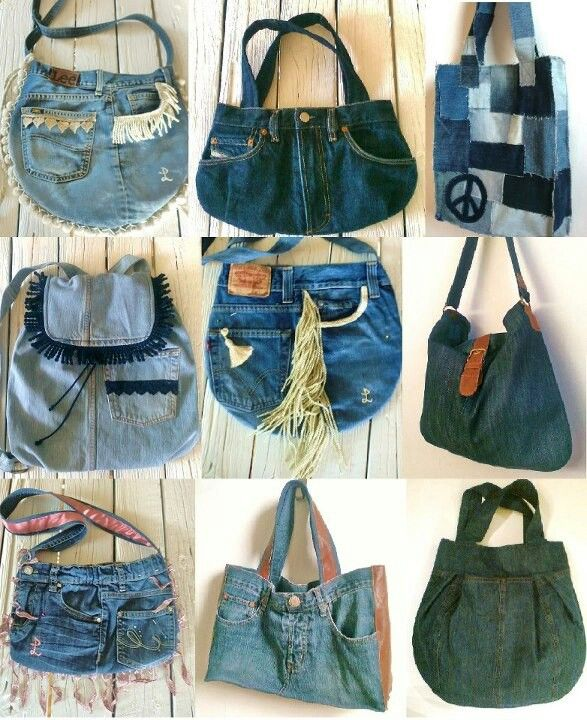 Denim purses
