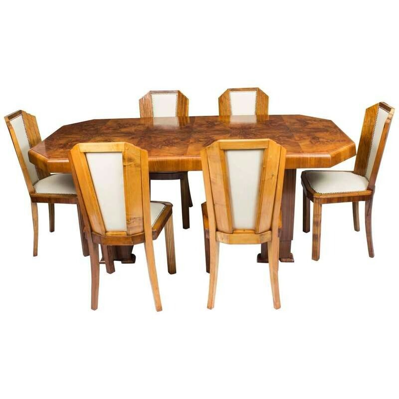 Pin By Zachary Ritter On Z Art Deco Furniture Walnut Dining
