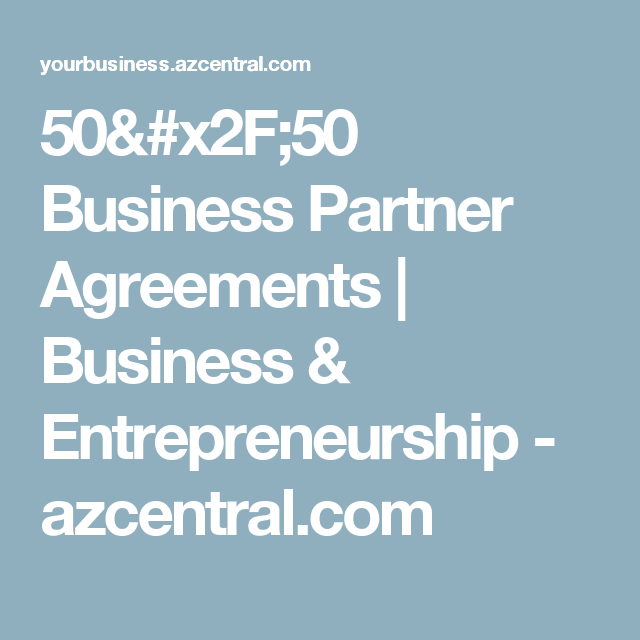Business Partner Agreements  Business  Entrepreneurship