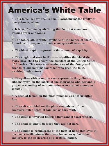 photograph regarding Missing Man Table Poem Printable identify Veterans Working day \