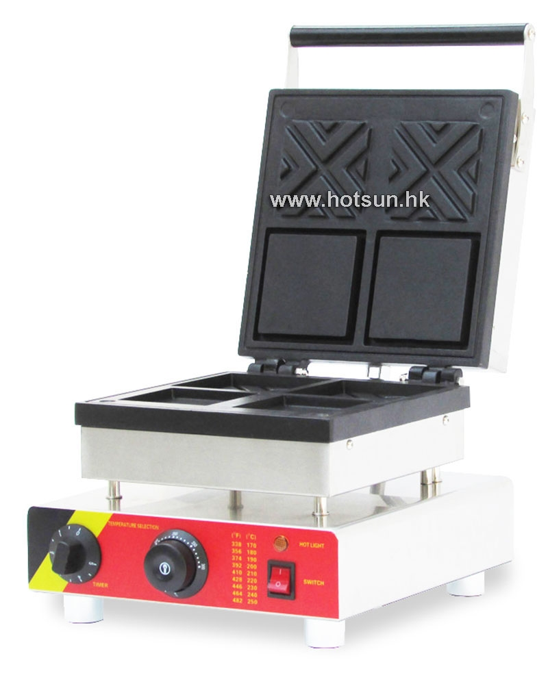 140.00$  Watch now - http://alig7i.worldwells.pw/go.php?t=32749217660 - Commercial Non-stick 110V 220V Electric 2pcs Waffle Baker Maker Iron Machine 140.00$