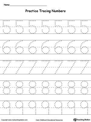 Preschool Writing Numbers Printable Worksheets Toddler Learning