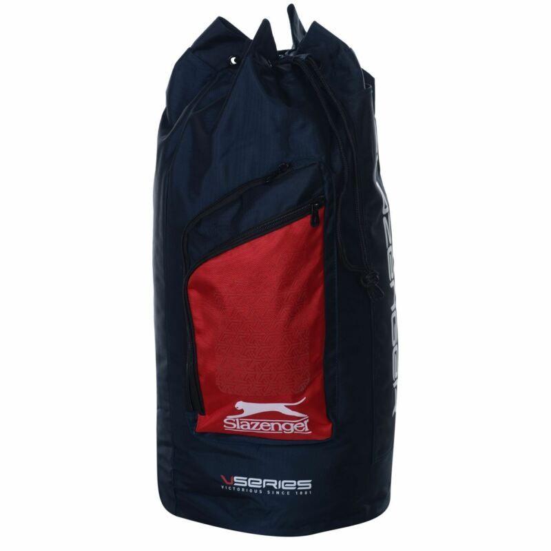 89ce8bbcfb Slazenger V Series Duffle Cricket Bag Navy/Red Bat Holdall Carryall ...