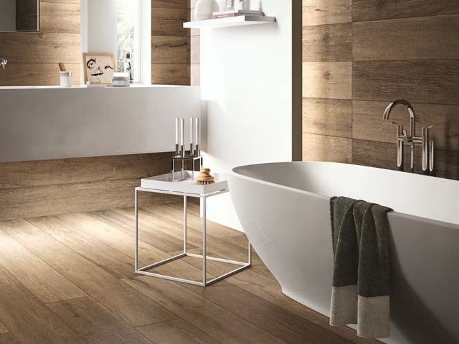 Revêtement de sol mur effet bois pour intérieur et extérieur CADORE - mur en bois interieur
