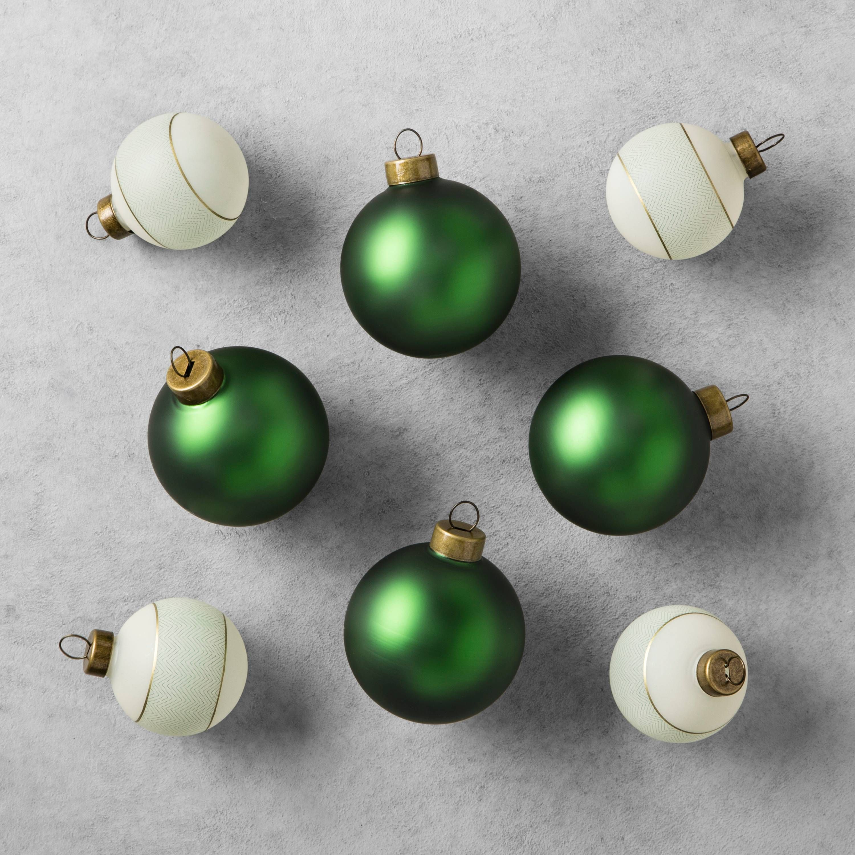 Gorgeous Green And Gold Christmas Ornaments By Joanna Gaines At