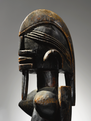 Dogon Female Figure, Ogol Circle of Artists, Mali dege dal nda. Height: 24 1/2 in (62.2 cm)  Henri Kamer or René Rasmussen, Paris