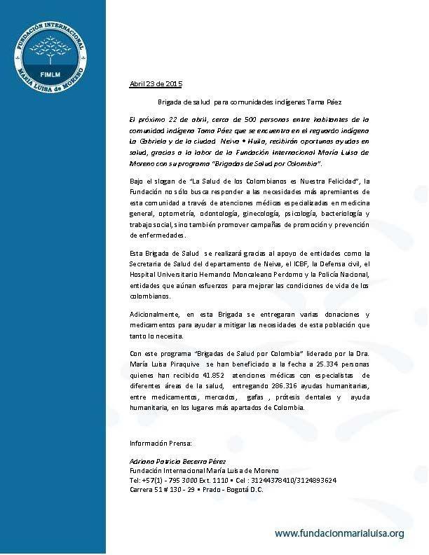 Boletín brigada La GabrielaUltimo
