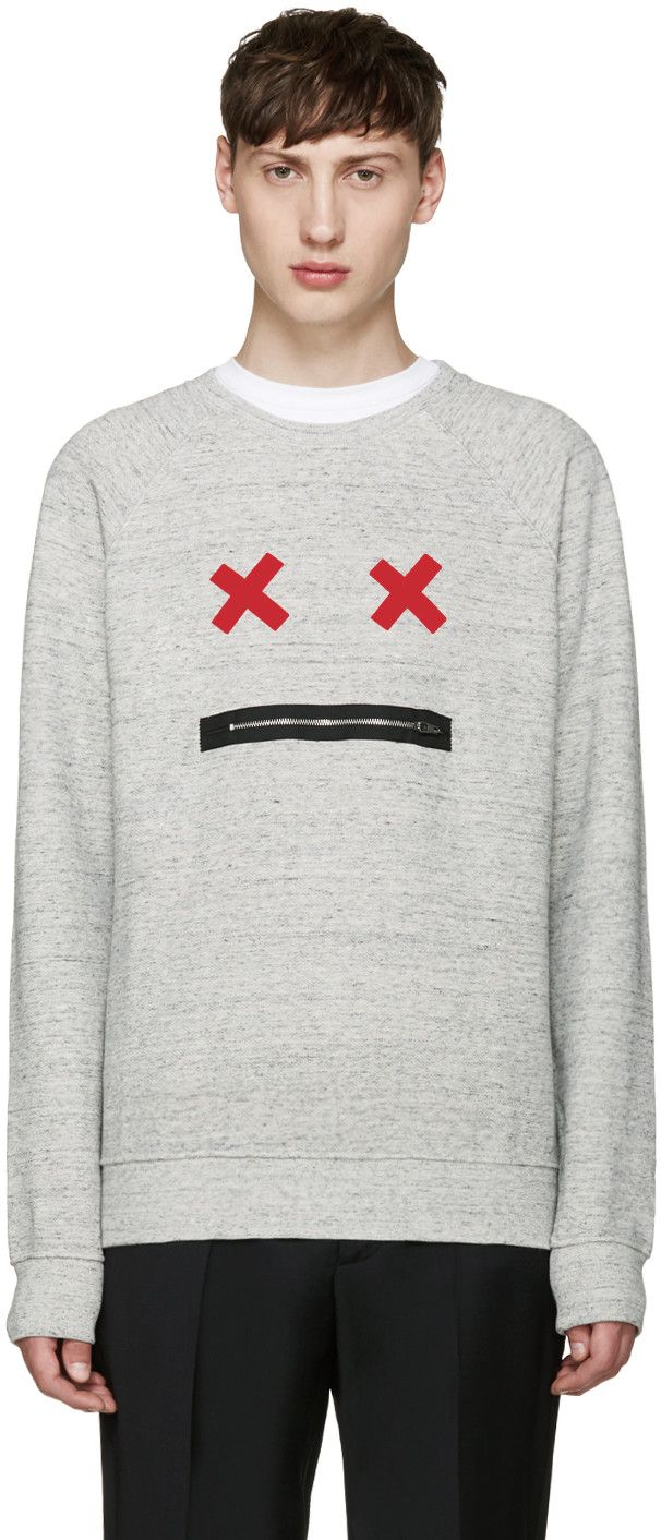 Marc Jacobs Grey Smile Pullover In Grey Melange Modesens Striped Sweatshirts Pullover Clothes Design [ 1412 x 606 Pixel ]