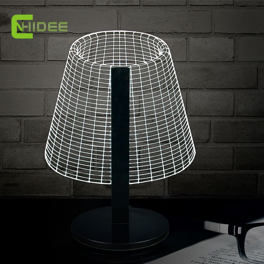Novel dimmable diy 3d table light for bedroom lamp soft led desk night light as home