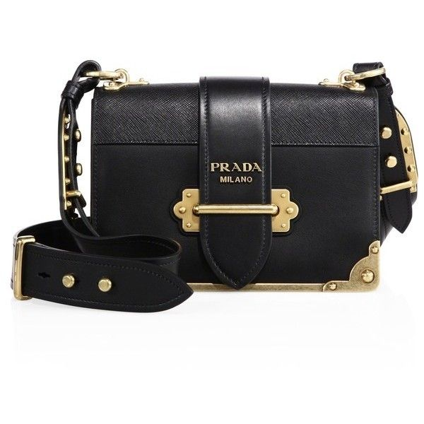 7865bc12cc31 Prada Cahier Notebook Leather Shoulder Bag ( 2