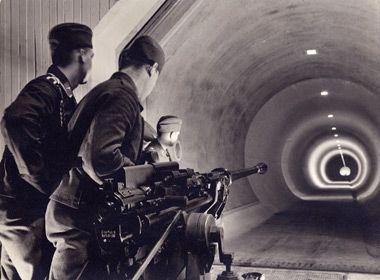 Firing range in Brunswick, circa 1940