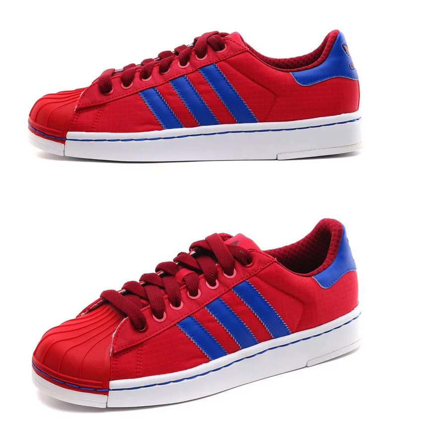 ADIDAS ORIGINALS SUPER STAR II RED BLUE Q23185 $105