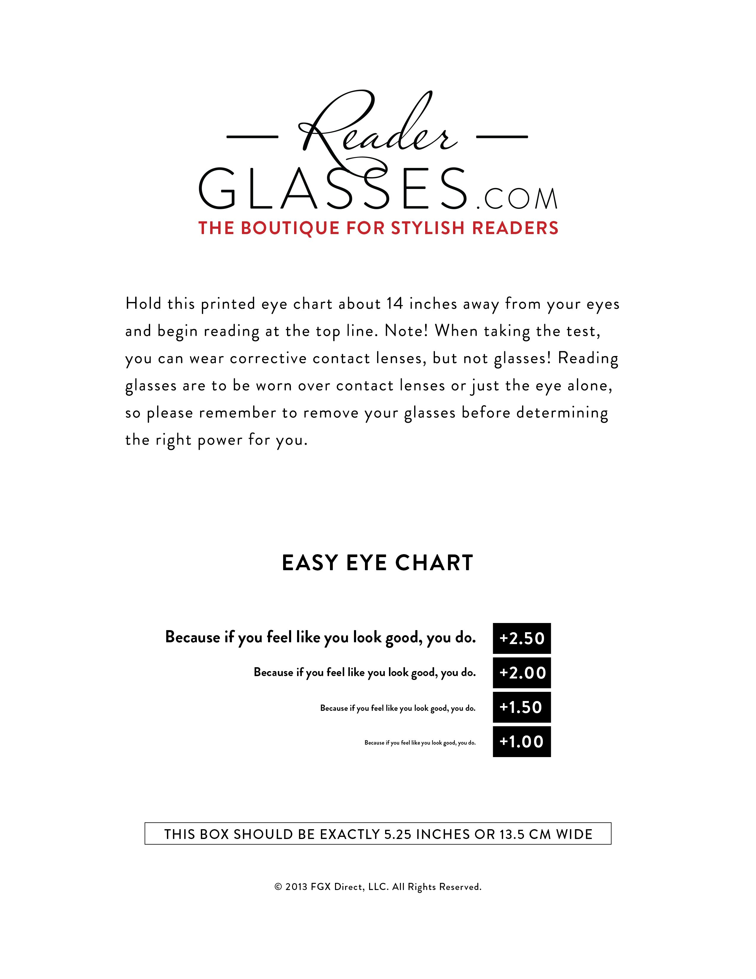 Find Your Strength Find Your Strengths Eye Chart Beginning Reading