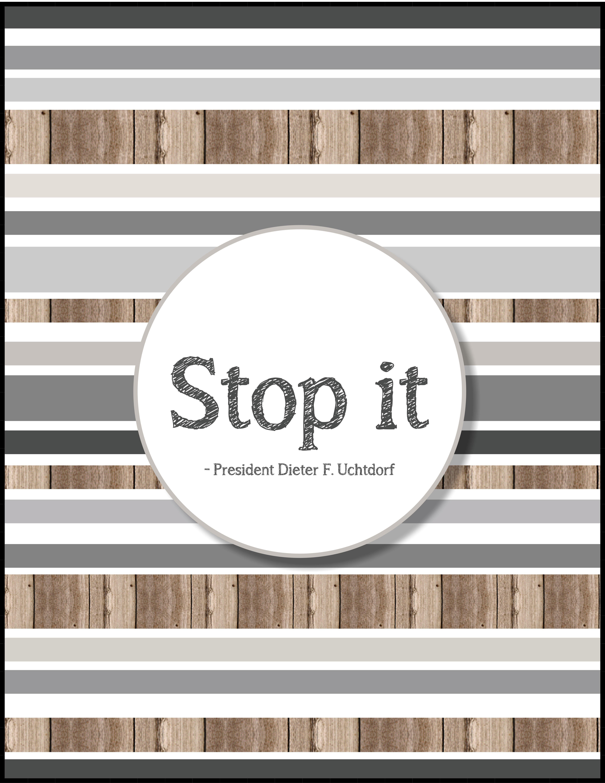 http://teachhisdoctrine.wordpress.com/ Stop Judging Others   Lesson Suggestion on Blog   #comefollowme #uchtdorf #stopit #judging #lds