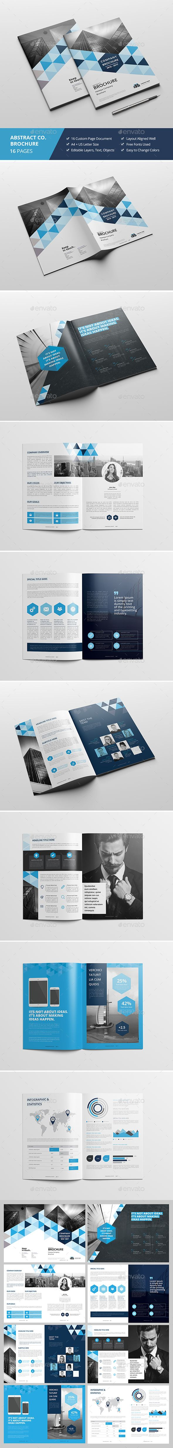 Haweya Abstract Portrait Brochure | Plantillas de certificado ...
